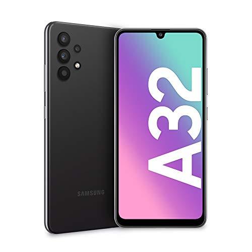 Samsung Galaxy A32 4G Smartphone Android Senza SIM 6.4 Pollici, Display Infinity-U FHD+, 4 Fotocamere Posteriori, 4GB RAM e 128GB, Batteria 5.000 mAh, Awesome Black (Nero) [Versione Italiana]