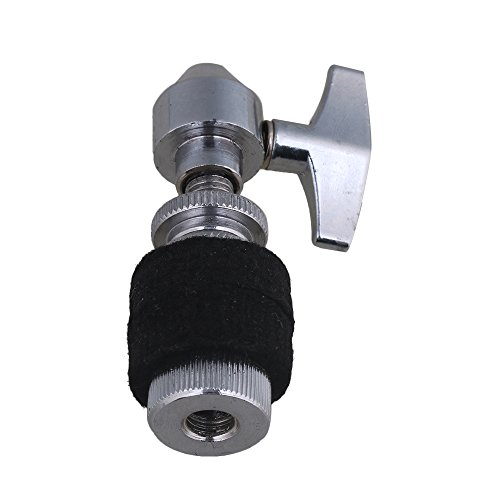 Mxfans 8 x 2 cm Silber High Hat Kupplung für Hi-Hat-Becken Ständer Drum Set Zubehör
