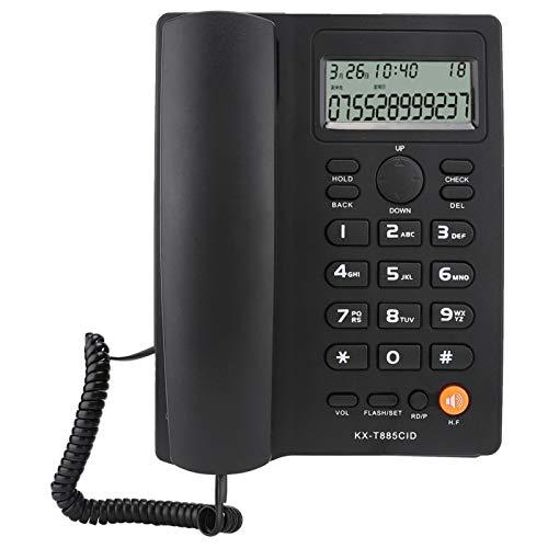 FOLOSAFENAR Teléfono del Hotel Teléfono residencial Función de retención de Sonido Claro, para el hogar, para el Hotel, para la Oficina(Black)