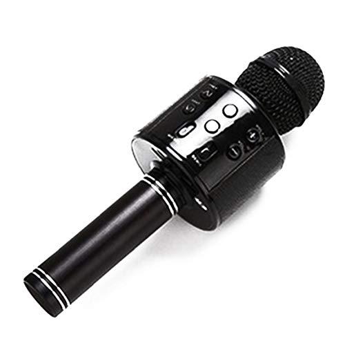 Conveniente Multifuncional Micrófono Inalámbrico Bluetooth El Micrófono De Karaoke Altavoz Para El Canto Del Partido De Música Reproducción Batería Incluida Azul