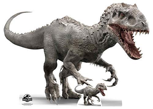 Star Cutouts SC1284 Offizieller Jurassic World Indominus Rex (Side View) Dinosaurier Party und Sammlerobjekt, 92 cm hoch, mehrfarbig