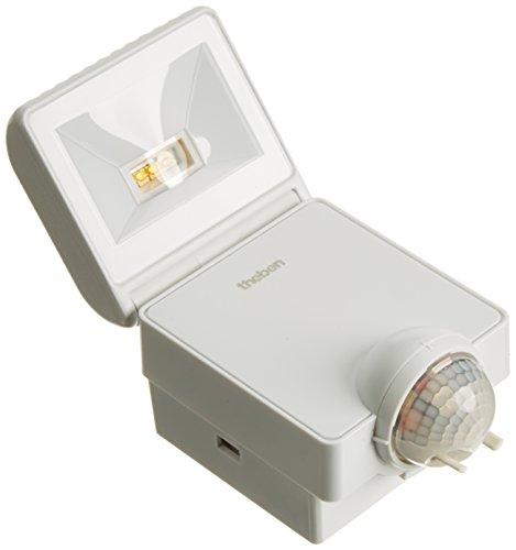 Theben 1020951 Luxa 102-140 LED 8W W Strahler mit Bewegungsmelder für Wandmontage, 3000 K, weiß