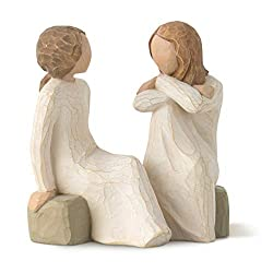 Sentiment: Open hearts, sharing souls, trusted friends written on enclosure card 4 Inch hand-painted resin figure; ready to display on a shelf, table or mantel; to clean, dust with soft brush or cloth A gift to celebrate supportive friendships among ...