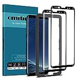 omitium 2 Pack Protector Pantalla para Samsung Galaxy S8, Cristal Templado Samsung Galaxy S8 Marco Instalación Fácil Sin Burbujas, Dureza 9H Vidrio Templado para Samsung Galaxy S8