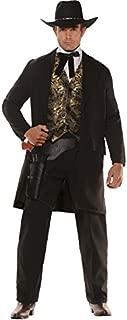 Underwraps Men's Gambler Outfit Western Theme Fancy Dress Adult Halloween Costume
