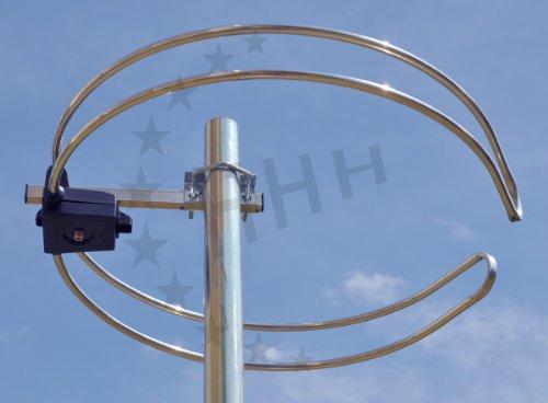 UKW Ringdipol Rundantenne FM-Antenne 1 Element 3H-FM-1R mit F-Anschluss - montierbar vom Mast Weg oder um einen Antennenmast herum