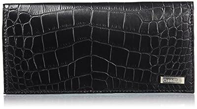 Calvin Klein Men's Secretary Wallet with Zipper, black, One Size