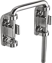 """Defender Security U 9847 Patio Sliding Door Loop Lock – Increase Home Security, Install Additional Child-Safe Security, 2-1/8"""" Hardened Steel Bar with Diecast Base, Chrome Plated"""