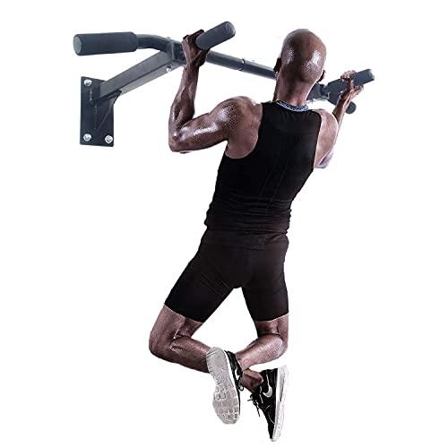 ISE Barre de Tractions, Barre de Fitness Fixation Murale Plafond Exercices, Multi-Grip Pull Up Bar - Espace de Sauvegarde - Max 120KG - Matériel de Fixation INCL. SY-165