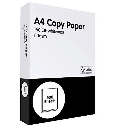 1 x Ream of A4 Paper White Copier Laser & Inkjet Printer Paper A4 500 x...