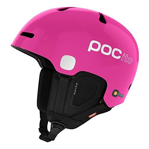 POC Pocito Fornix, Casco da Sci Alpino Unisex-Bambini, Rosa Fluorescente, M/L