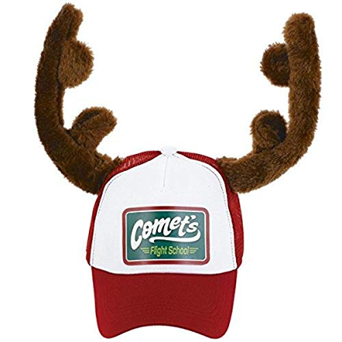 amscan 250534 Christmas Reindeer Trucker Hat, Small Adult Size, 1ct