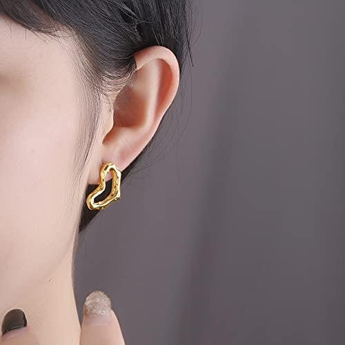 LIEQUAN Temperament Silver Ear Joy S925 Pendientes de Plata esterlina Pendientes de luz fría Luz Simple Amor melocotón corazón Pendientes Femeninos