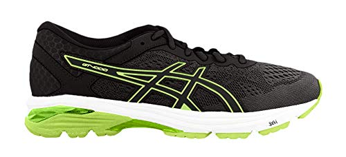 ASICS GT-1000 6, Chaussures de Running Homme, Noir (Black/Safety Yellow/Black 9007), 41.5 EU