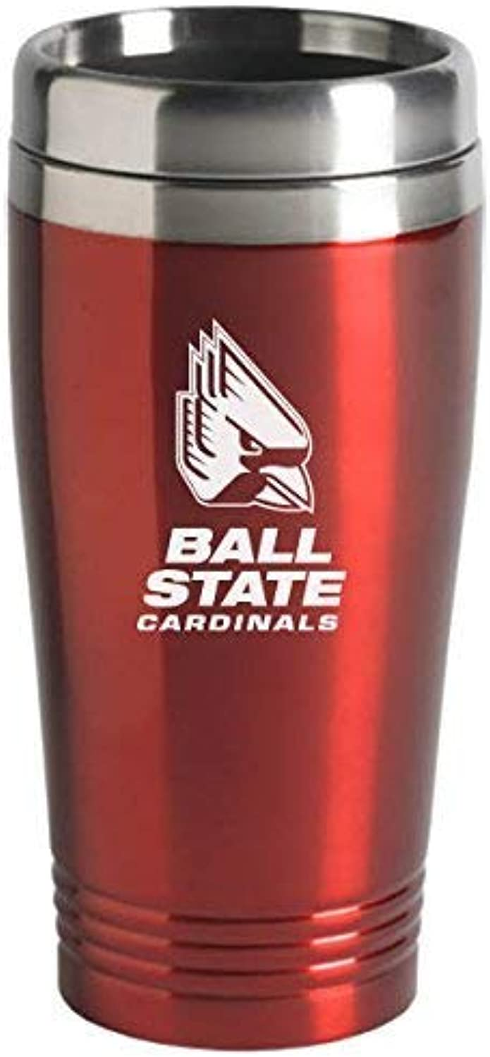 Ball State University  16ounce Travel Mug Tumbler  Red