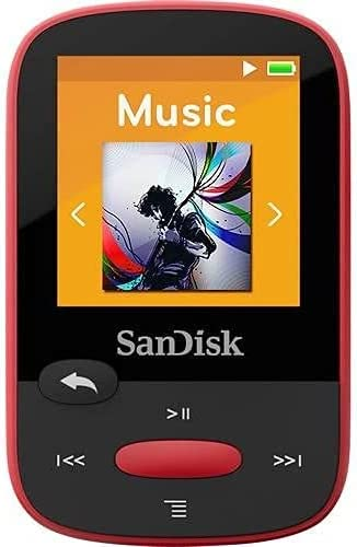 SanDisk Clip Sport 4GB MP3 Player with Red LCD and Ranking TOP10 Screen Micro Memphis Mall