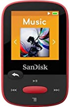 $29 » SanDisk Clip Sport 4GB MP3 Player, Red with LCD Screen and Micro SDHC Card Slot (Renewed)…