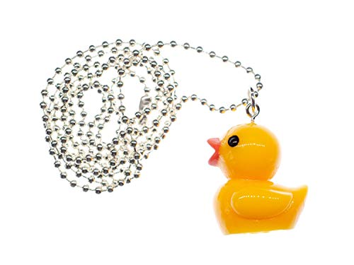 Miniblings Quietscheentchen Badeente Halskette - Handmade Modeschmuck I Kette mit Anhänger Länge: 80cm - Ente Entchen Badewanne 3cm