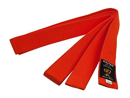 Kaiten Karategürtel Gürtel Budogürtel Baumwolle (orange) (300)