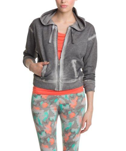 ESPRIT SPORTS Grosse Grösse Damen Sweatshirt 024ES1J009 Bio Baumwoll Sweatjacke, Einfarbig, Gr. 38 (Herstellergröße: M), Grau (PEBBLE GREY)
