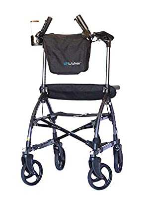 UPWalker Mobility Stand Up Walking Aid Small Size (Upright Posture Rolling Walker with Seat)