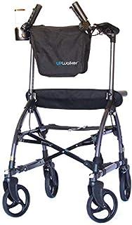 UPWalker Original Upright Walker – Stand Up Rollator Walker & Walking Aid with Seat – Large