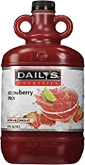 Daily's Strawberry Cocktail Mix 1 - 64 ounce bottle Non-Alcohol Contains real fruit juice