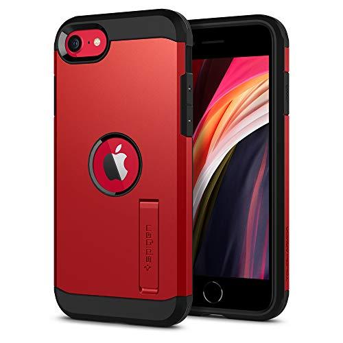 Spigen Tough Armor Designed for Apple iPhone SE 2020 Case - Red