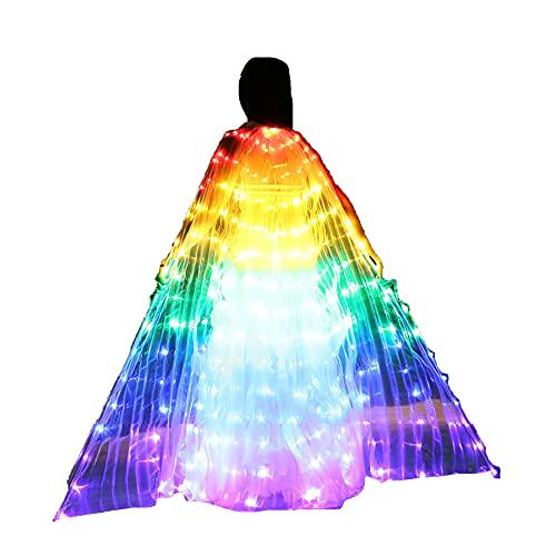 SUKDO Alas De ngel ISIS LED para Mujer, Alas para Danza del Vientre, Alas De Mariposas, Disfraz De Baile para Actuacin En El Escenario