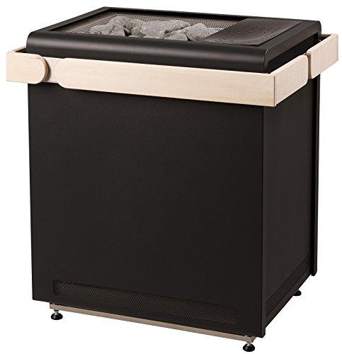 Sentiotec Saunaofen Sauna Concept R Combiofen black 9 KW mit Ofenreling Espe