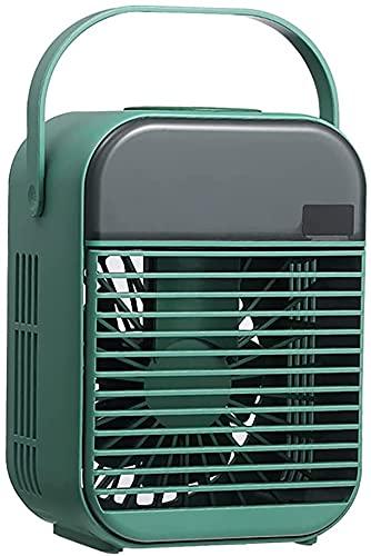 NFRMJMR Condizionatore portatile Condizionatore Air Evaporative Air Cooler, 3 in 1 USB Ventilatore di raffreddamento ad aria, con luce atmosferica colorata, mini ventilatore a spruzzo da tavolo portat