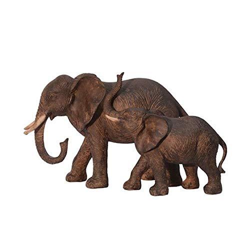 Dekofigur Elefant 18 x 32 x16 cm Elephant Elefanten Deko Figur Afrika Antik Stil