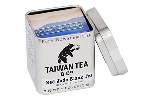 Taiwan Sun Moon Lake Red Jade Black Tea 12 Pyramid Tea Bags Organic Tea Hand Picked