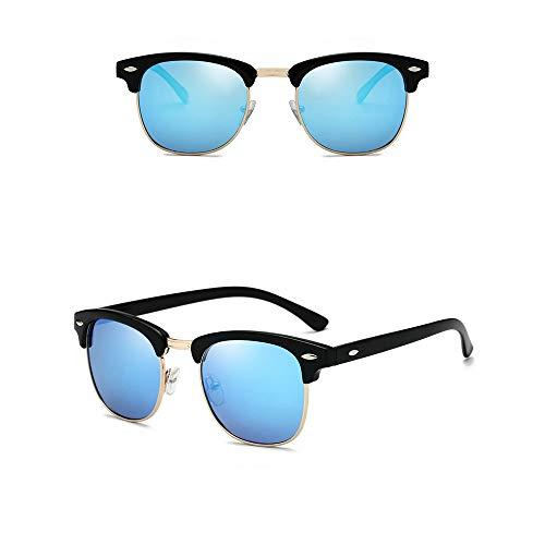 Gafas de sol Nerd con estilo para hombre y mujer polarizadas - Gafas de sol unisex UV400 en 9 colores diferentes (Style 8)