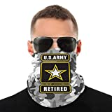 Nother U.S Army Star Retired Outdoor Neck Headwear Face Gaiter Bandana Variety Scarf Mask Windproof...