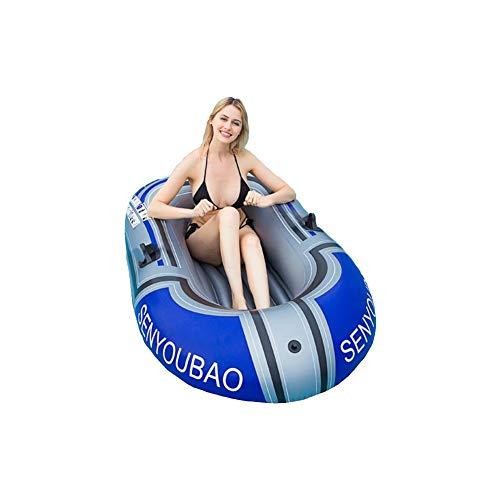 1-Personen-Schlauchboot, verdicktes, langlebiges, faltbares, aufblasbares Fischerboot, aufblasbares Kajak, Schwimmbad, Schlauchboot, Driftschiff für den Außenbereich, Angeln, Schwimmbad