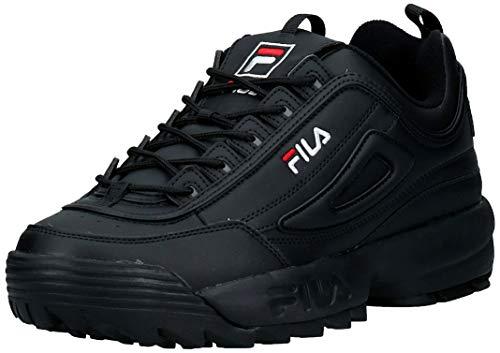 FILA Disruptor, Zapatillas Hombre, Negro (Black/Black), 45 EU