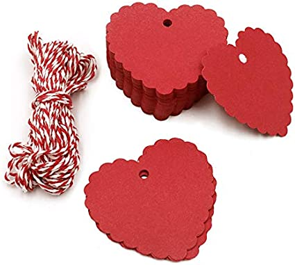 30 white heart tags 2.5/'x1.6/'