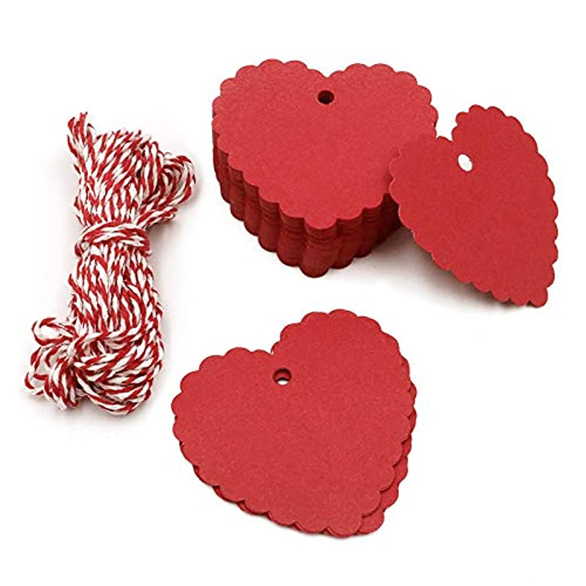 Father's Day Tags,100PCS Kraft Paper Gift Tags/Hang Tags with Free Cotton Twine for Valentine Wedding Birthday Holiday Party Favors