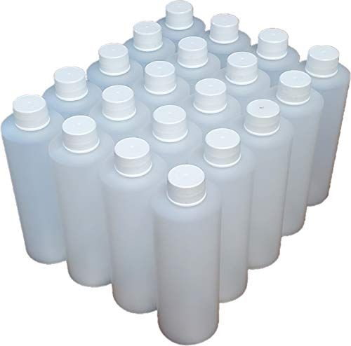 6 Pack 8oz Natural HDPE Fine-Mist Spray Bottles, 120ml Refillable with 24/410 Cap