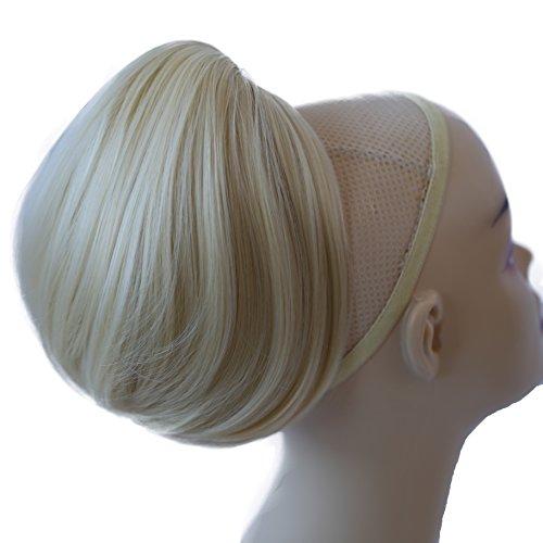 PRETTYSHOP Dutt Haarteil Zopf Haarknoten Hepburn-Dutt Haargummi Hochsteckfrisuren platinblond #613A H413
