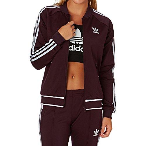 adidas Damen Track-Top Jacke Superstar (32, Brown)