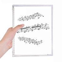 エレガントなブラックミュージック5-leスタッフ 硬質プラスチックルーズリーフノートノート