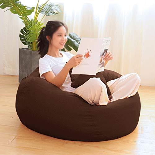 WGYDREAM Sitzsack Großer Sitzsack Gamer Lehnstuhl, Outdoor und Indoor Adult Gaming Beanbag Garten-Sitzstuhl, 2 Größe Optionen Bean Bag (Color : Brown, Size : 90 * 120cm)
