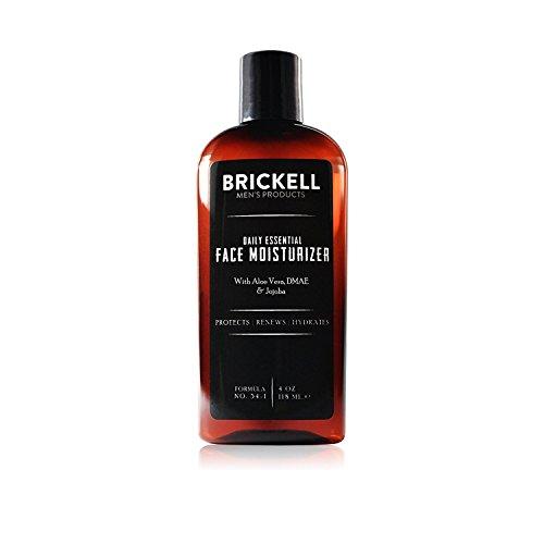 Brickell Men's Daily Essential Face Moisturizer - Natürliche & organische Feuchtigkeitscreme - Männer Gesichtscreme - Mit Hyaluronsäure, Grüntee Extrakt & Jojobaöl - 118 ml - Unparfümiert
