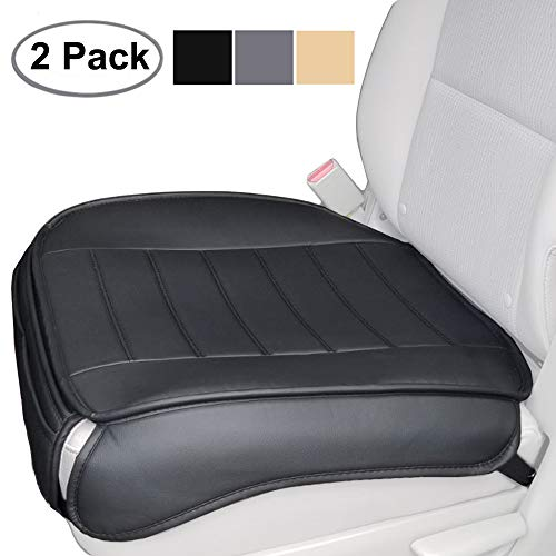 2PCS Black Big Ant Car Seat Cushion Soft Leather Car Seat Pad Protector,2 Front Seat Cushion Seat Cover pad Mat for Auto Supplies Office Chair-Premium Cotton Keep Comfortable Universal Four Seasons