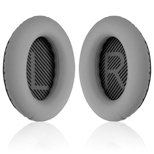 O'woda 1 Pair Replacement Ear Pads Cushions for Bose QC35, Earpads Compatible with Bose QuietComfort 35 (QC35) and Quiet Comfort 35 II (QC35 II) Over - Adaptive Memory Foam and Extra Durable (Grey)