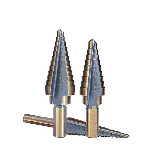 Spiralschritt Schlitzbohrer zum Bohren Gerade geschlitzt Schneiden Kernbohrer HSS Cobalt-Stufenbohrer Set-Zoll-Lochbohrer mit Aluminiumgehäuse