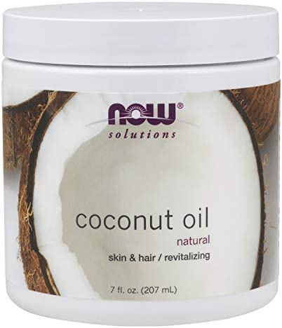 NOW Solutions, Coconut Oil, Naturally Revitializing for Skin and Hair, Conditionin Moisturizer, 7-Ounce