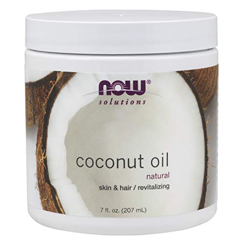 NOW Solutions, Coconut Oil, Naturally Revitializing for Skin and Hair, 7-Ounce